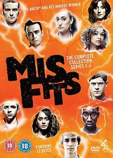 Misfits Complete Series 1 2 3 4 & 5 DVD Box Set Channel 4 New Sealed BBC