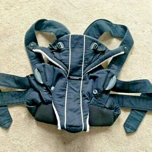 BABY BJORN Active Carrier Suitable from Birth - BLACK - VGC