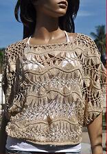 Thai handmade Boho korean fashion Knitwear crochet vest coat shirt women S M