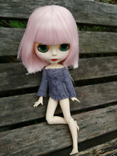 Blythe Nude Doll from Factory Matte Face Pink Short Stright Hair With Bang