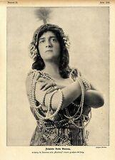 "Berta Morena als ""Kundry"" in London Historische Aufnahme 1914"