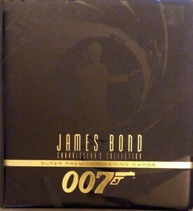 Inkworks James Bond 007 Trading Card VOLs 1-3 & Postcard LOT Connoisseurs Binder