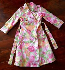 GIRLS Children's Place Trench COAT SIZE 4 Pink Dressy Spring & Summer Church