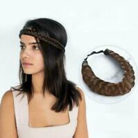 Fashion Synthetic Braided Hair Headband Wig Elastic Princess Headband Band X4I2