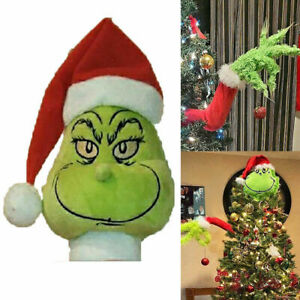Grinch Christmas Decorations Furry Green Grinch Arm Ornament Holder Tree Set Hot