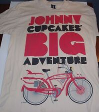 Used Johnny Cupcakes PeeWee Big Adventure Shirt Tan Mens L Large Tags Pee Wee