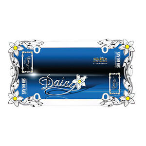 New Daisy Flower Chrome License Plate Frame Universal Fit for Cars- Single