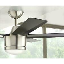 "Home Decorators Collection Merwry 52"" Indoor Brushed Nickel Ceiling Fan w/Light"