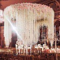 10Pcs Hydrangea Artifical Flower Vine Hanging Garland Background Wedding Decor