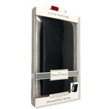 NEW Case Mate Wallet Folio Leather Case for iPhone 6 Plus/ 6s Plus - BLACK