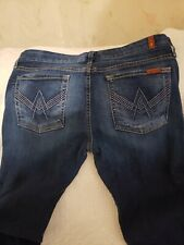 7 for all mankind 'A' pocket boot jeans size 32
