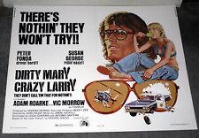 DIRTY MARY CRAZY LARRY original 1974 22x28 movie poster SUSAN GEORGE/PETER FONDA