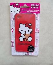 HELLO KITTY & TEDDY RED IPHONE 4 SILICONE CASE SKIN NEW WARRANTY FREE PRIORITY