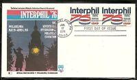 US SC #1632 Interphil '76 FDC. Pair. Fleetwood  Cachet. 1