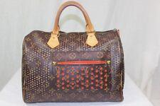 Auth Louis Vuitton Monogram Perforated Orange Speedy 30 Hand Bag Limited Edition