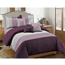 Dcp 5-Piece Microfiber Comforter Sets Bed in a Bag,lightweight,Seam Violet,King