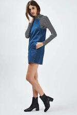 TOPHOP | Womens Moto Mini Pinafore Denim Dress NEW [ Size AU 10 or US 6  ]