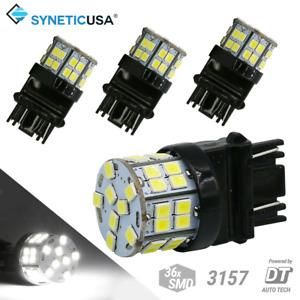 4X T20 3157/3156 LED 6000K White Brake Tail Stop Parking High Power Light Bulbs