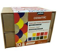 Pebeo Ceramic Collection Set 10 x 45ml Paint Terracotta Pottery Painting 758451