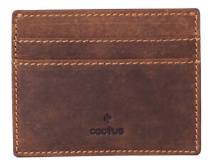 CACTUS Slim Hunter Oiled Leather Credit Card Holder - RFID Protection 626 81