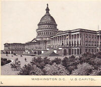 US Capitol Building 1890's Washington DC photo-style Dr. Hartman Cure Trade Card