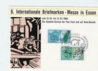 Germany 1986 international stamps fair Essen  stamps card R21133