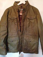 BARACUTA Padded Field Jacket Wax Cotton Olive - size 44