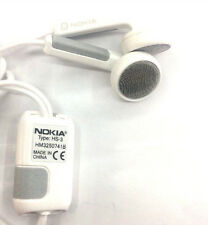 Genuine Nokia HS-3 / HM3250741B Portable Stereo Headphone Headsets - White