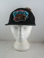 Vancouver Grizzlies Hat (VTG) - Heavy Cotton by AJD - Leather Strapback (NWT)