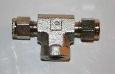 """1/4"""" Tube x 1/4"""" Tube x 1/4"""" FNPT Steel Tube Fitting Tee Parker 4FBT4N-S"""