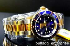 Mens Invicta Pro Diver Blue 23kt Gold Tone NH35A Automatic Coin Steel Watch New
