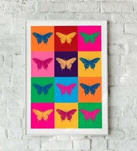 Butterfly Print, Butterfly Pop Art, Butterflies Print, Butterfly Art Print