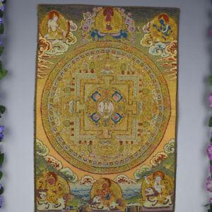 "24"" Tibet Tibetan Cloth Silk Buddhism Mandala '坛城' Tangka Thangka Painting Mural"