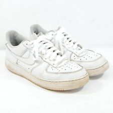 Nike Air Force 1 Low Leather Trainers in White UK 9 EUR 44 US 10