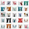 Animal Print Home Decor Cotton Linen Throw Pillow Case Sofa Waist Cushion Cover
