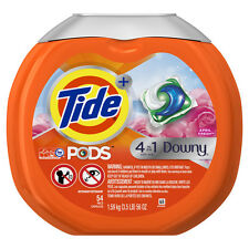Tide April Fresh 4in 1 Downy High-Efficiency Laundry Detergent, 54 Counts