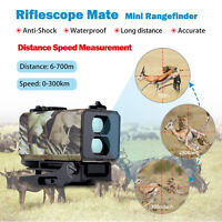 Mini 700M Laser Range Finder Riflescope Rifle Scope Hunting Distance Measurement