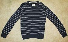 Aeropostale Navy with Gray Stripe Size L Sweater EUC 60% Cotton 40% Acrylic