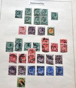 SÜDWESTAFRIKA Tolle Sammlung Freimarken/Typenpaare/postfrische Hoher Katalogwert