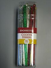 Domestic Cocktail Stirrers 50 Count Multi-Color Hard Plastic Pack