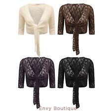 Women's Cropped Boleros Shrugs Nylon Jumpers & Cardigans