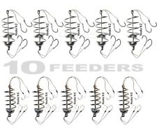10pcs Carp Spring Fishing Feeder SET, 40 Fishing Hooks, Bait Fishing Tackle