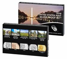 2019 S SILVER PROOF Set US Mint 10 Coins w/ BOX COA - NO Extra W Lincoln Penny