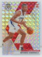 Mfiondu Kabengele RC 2019-20 SILVER WAVE MOSAIC PRIZM Rookie Card #218 Clippers