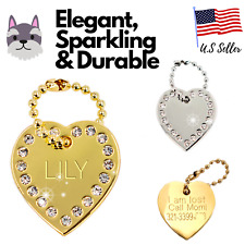 Buy 3 Get 1 Free √ Heart Dog Tag Cat Tag Dog Tags Charm Engraved Personalized