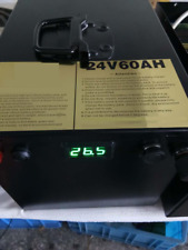 Lithium 24V 50Ah Rechargeable Deep Cycle Battery with Home Charger BMS Solar RV