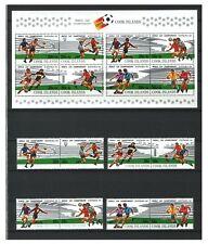 Briefmarken mit Fußball-Motiven als Satz