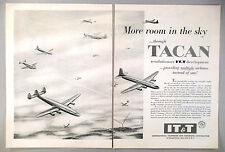 IT&T, International Telephone & Telegraph Co. 2-Page PRINT AD - 1955 ~~ TACAN