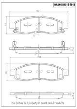 Disc Brake Pad Set-Ceramic Pads Front Pronto PCD1015