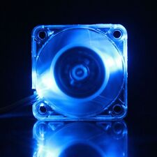 Blue LED DC 12V 4cm 40x40x10mm 3Pin PC CPU Cooling Fan Transparent Case 40mm new